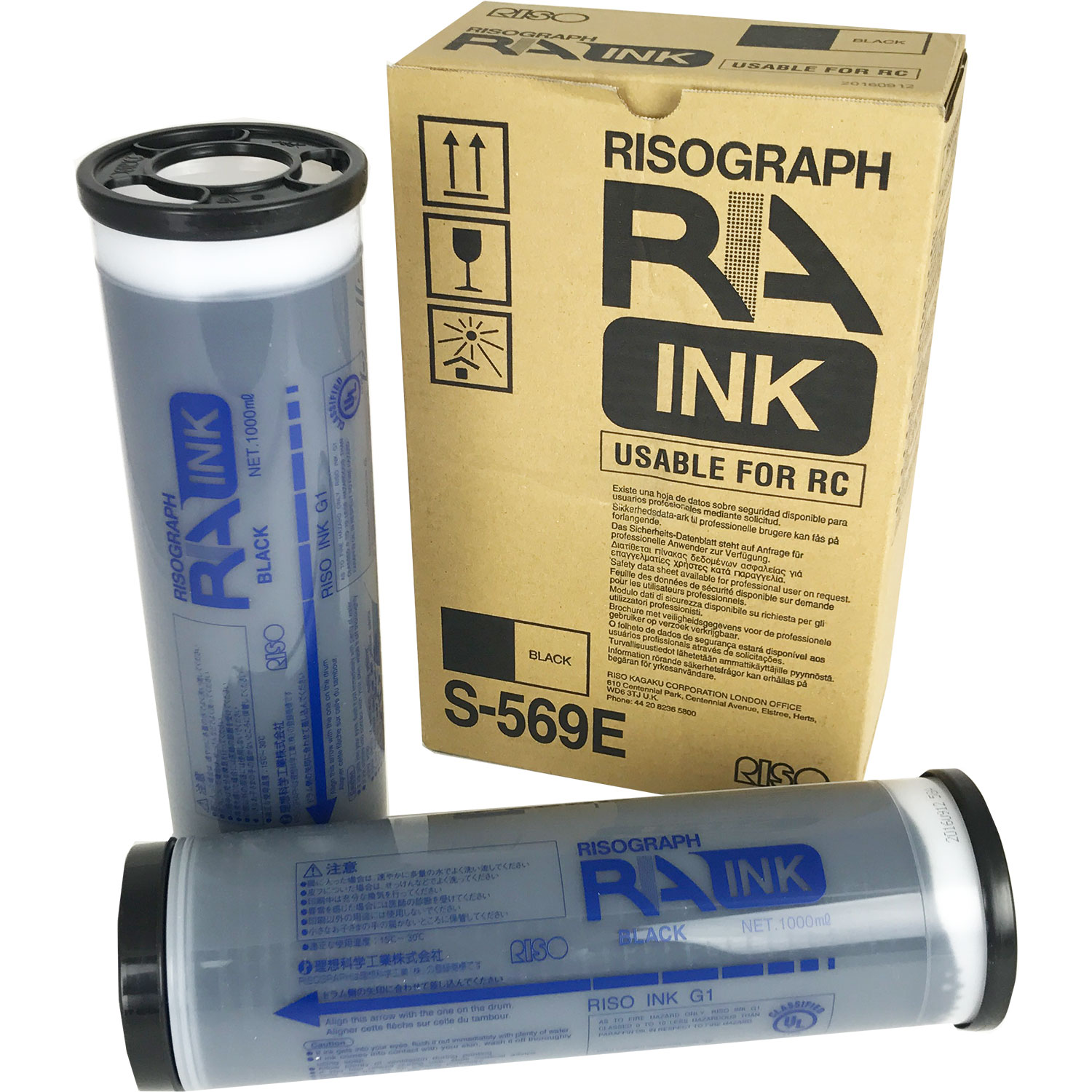 Riso RA/RC Black Ink S-569 (Box 2)